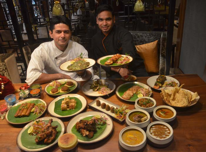Chef Naveen Handa, Sues Chef with Chef Taj at Daawat-E-Kebab promotion at JW Marriott Chandigarh_