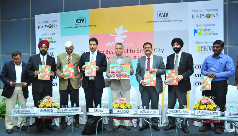 FS-releasing-the-CII-Chandigarh-Annual-Report