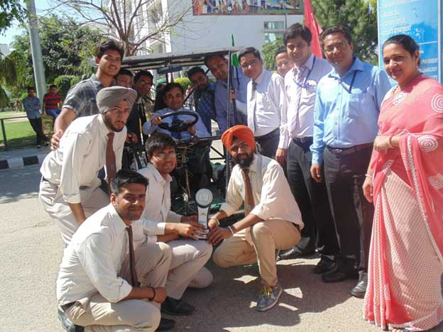 CGC-Landran-students-designed-Solar-car-at-Indo-Asian-Solar-with-Campus-Director--Dr-Vikas-Singh-&-others-1