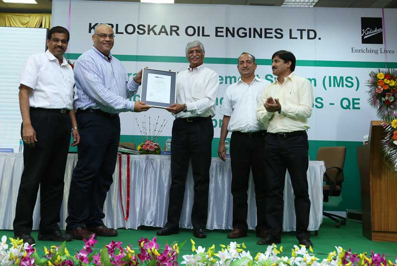 "Mr-R.R-Deshpande,-Executive-Director,-KOEL-is-seen-accepting-the-""Prestigious-IMS-Certification-Award""-on-behalf-of-KOEL-during-the-awards-function-held-at-the-Company's-manufacturing-facility"
