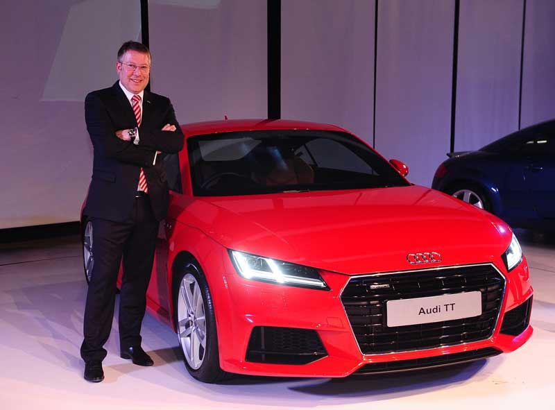 Mr.-Joe-King,-Head,-Audi-India-with-the-all-new-Audi-TT.-The-car-was-launched-in-Delhi-at-a-price-of-INR-60,34,000_--Ex-showroom-Delhi-and-Mumbai.