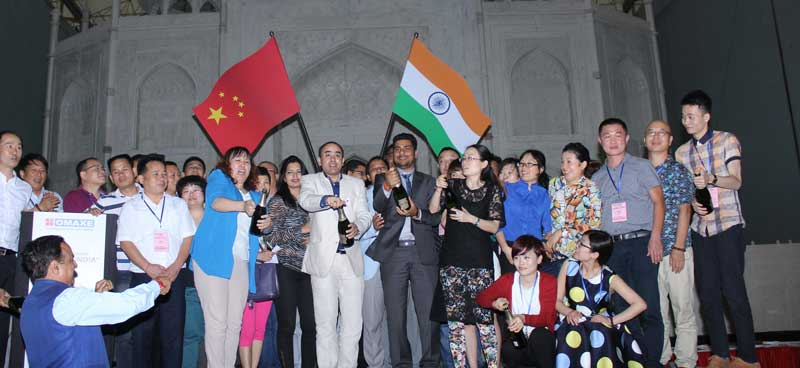 Chinese-Delegation-at-Omaxe-Connaught-Place,-Greater-Noida