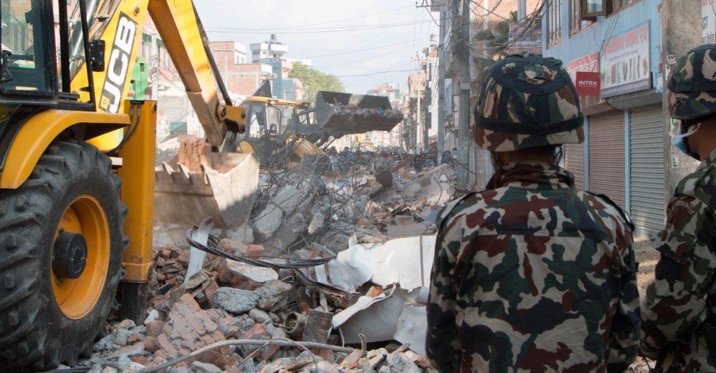 JCB Machine helping in the quake zone