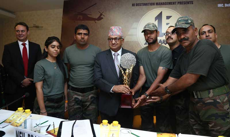 Nepal-Ambassador-His-Excellency-Deep-Kumar-Upadhyay-presenting-the-trophy-to-1st-Fearless-team