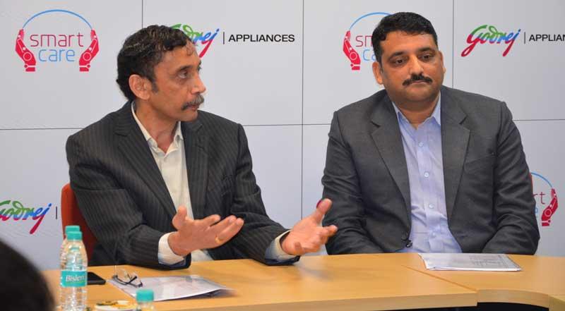 First-From-Left-Mr-Ravi-Bhat-National-Service-Head-Godrej-Appliances-during-launch-of-Godrej-Appliances-l'Smart-Mobile-Service-Van'-at-Mohali-Plant