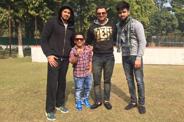 L-R-Singer-Veet-Baljit,-renowned-director-Manoj-Sharma-and-Meet-Singh..
