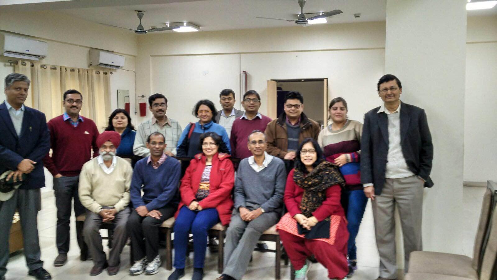 Venki with Biofaculty of IISER Mohali 1