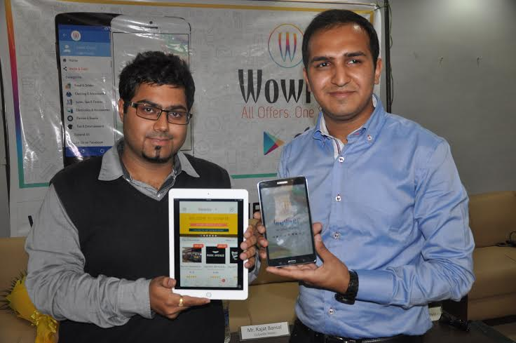 Amit Arora & Rajat Bansal who have developed tricity's first discount exploration App at the launch event of teh unique App