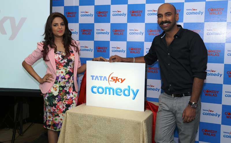 1.-Renowned-stand-up-comedians-Sugandha-Mishra-and-Sahil-Khattar-during-the-Launch-of-Tata-Sky-Comedy-at-Hotel-JW-Marriott-in-Chandigarh-on-Thurday