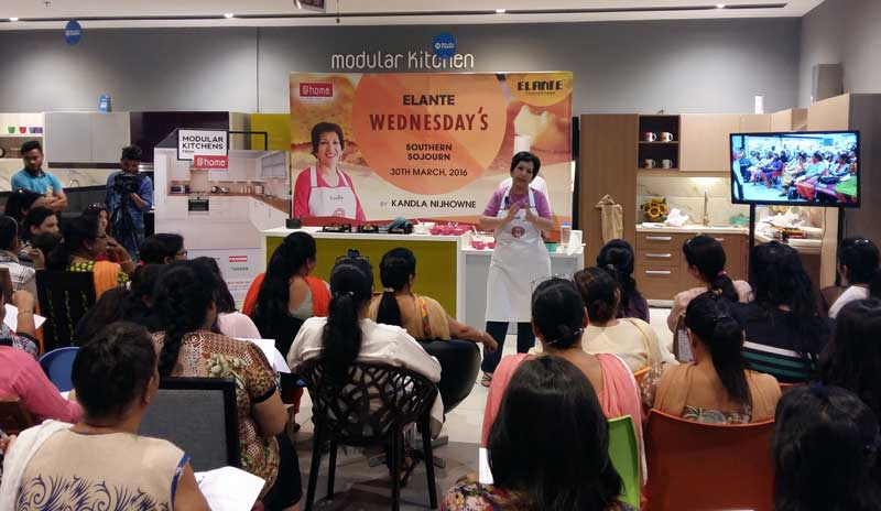 Chef-Kandla-Nijhowne-and-Head-Chef--Vinod,-conducting-South-Indian-Cookery-Workshop-in-the-latest-edition-of-Elante-Wednesday's..