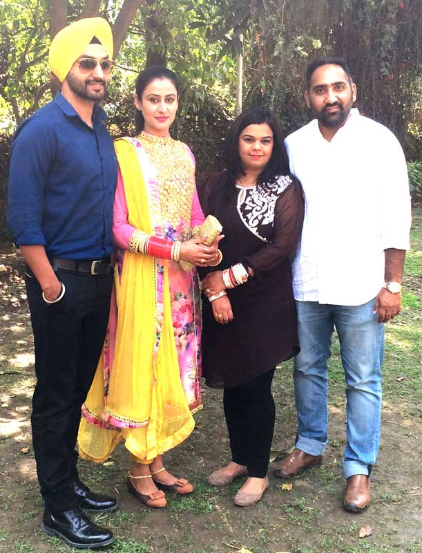 L-R-Actor-Gurjit-Singh,-Actress--Jaspinder-Cheema,-Producer--Nidhi-M.-Singh,-Director--Manbhavan-Singh
