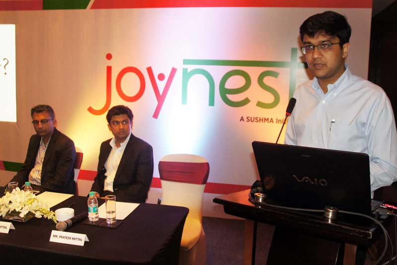 Mr.-Prateek-Mittal,-Executive-Director,-Sushma-Buildtech-Ltd-during-the-announcement-of-Joynest