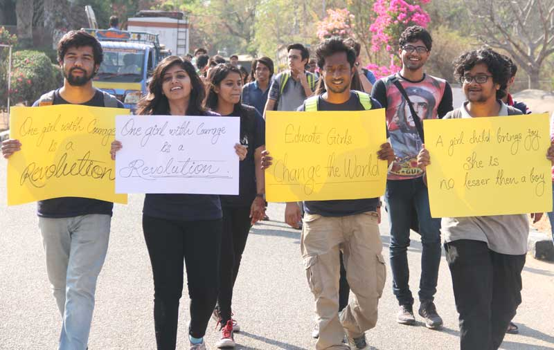 Students-with-Placards--Girl-Rising-AISFM