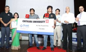 "Battle of brains at business quiz ""QuestIONS"" held at Chitkara"