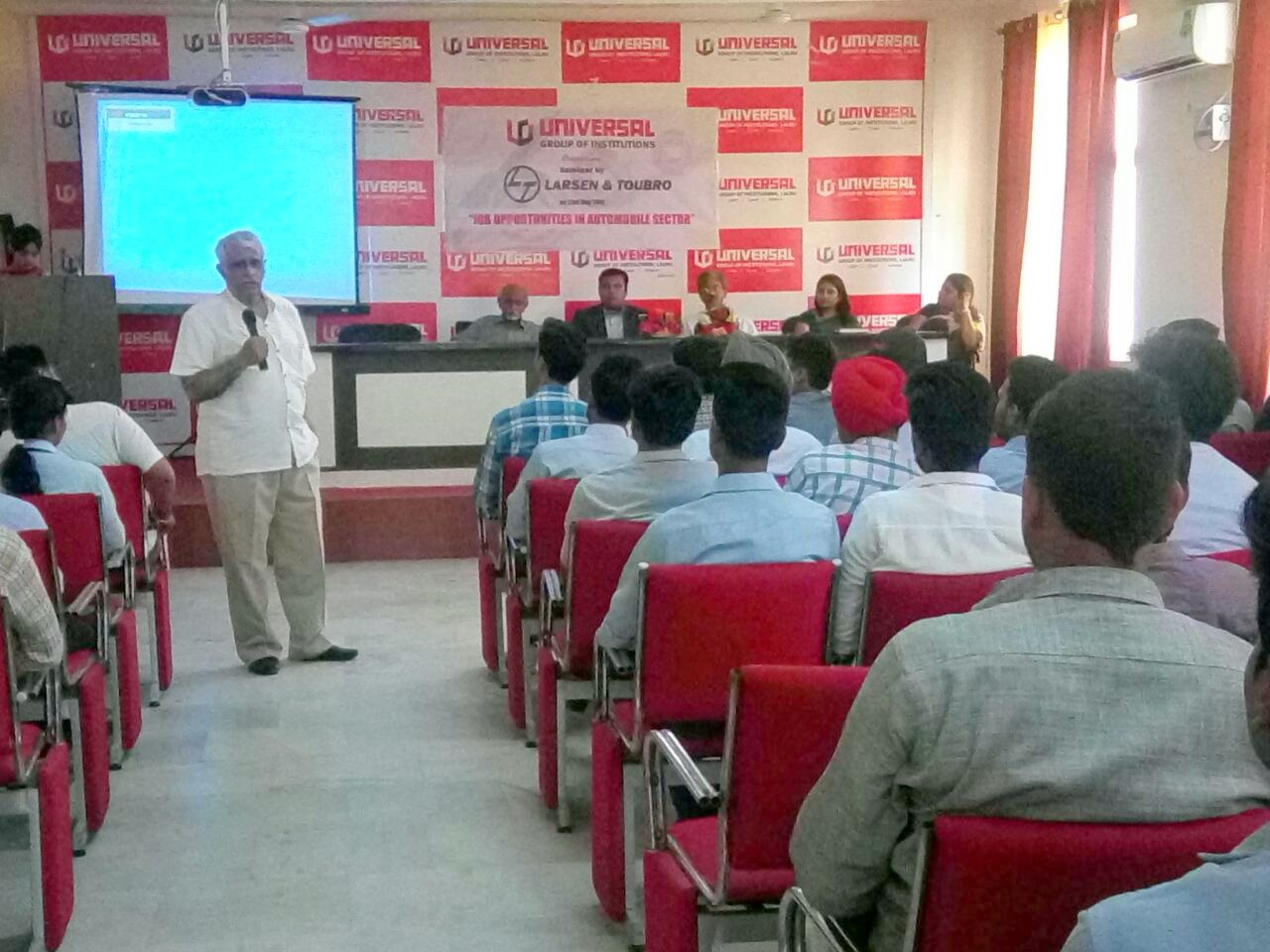Universal Group of Institutions   Organized seminar on Job Opportunities in Automobile Sector
