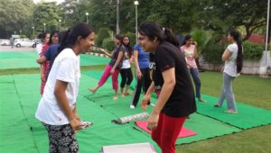 More than 200 participants joined the Mass Yoga Session