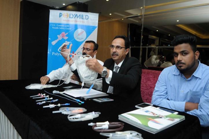Hemant Bhalla, VP-Sales & Marketing, Polymed addressing the media in Ludhiana  (2) (Small)