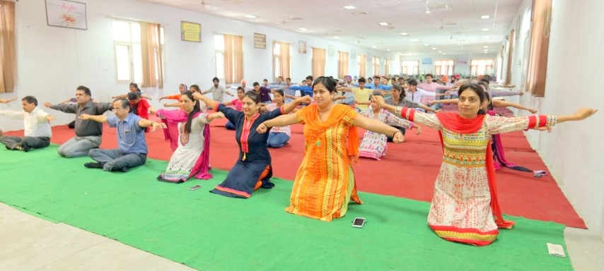 Ludhiana College of Engineering Technology, Katani Kalan organized awareness yoga camp at its campus from 21 june to 3 july  1 (Small)