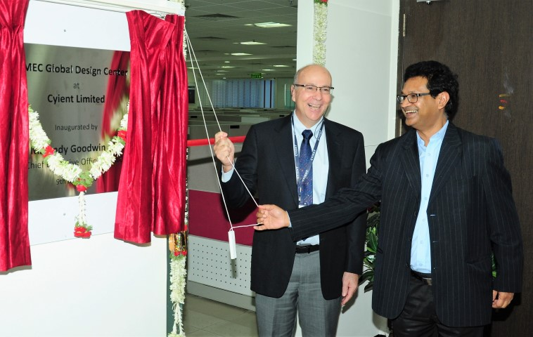 Mr. Andy Goodwin, CEO, SMEC and Mr. Ajay Agarwal VP and CFO Cyient (R) during the inauguration of Cyient's global design center 2 (Small)
