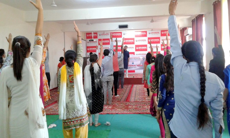 Universal Group of Institutions organised Yoga and Meditation camp to celebrate the International Yoga Day at its campus copy (Small)