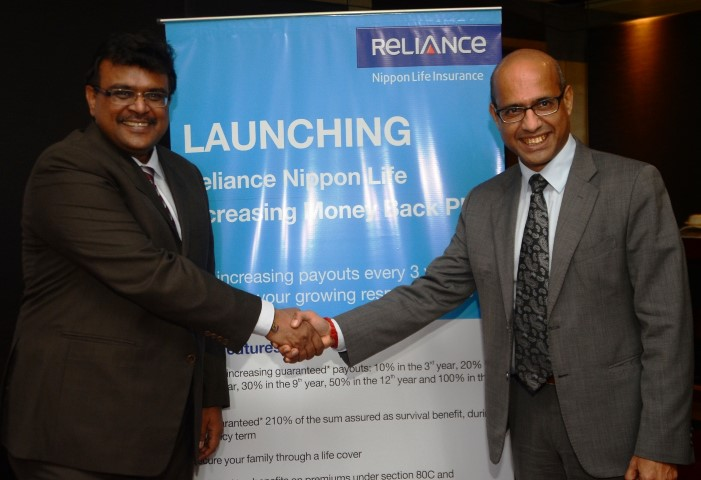 (L-R) Mr. Sharad Goel, Chief Communications officer, Reliance Capital Ltd. And Mr. Manoranjan Sahoo, Chief Agency Officer, Reliance Nippon Life Insurance Company -Pic2 (Small)