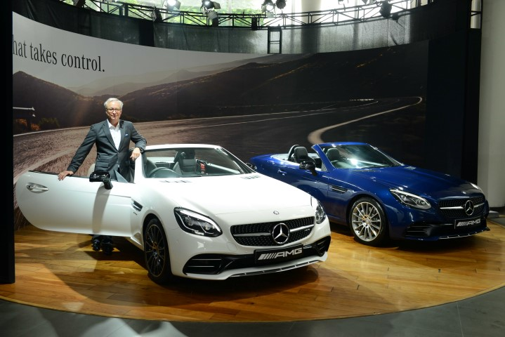 Mr. Roland Folger, Managing Director & CEO, Mercedes-Benz India at the launch of Mercedes-AMG SLC 43 in Delhi- 2 (Small)