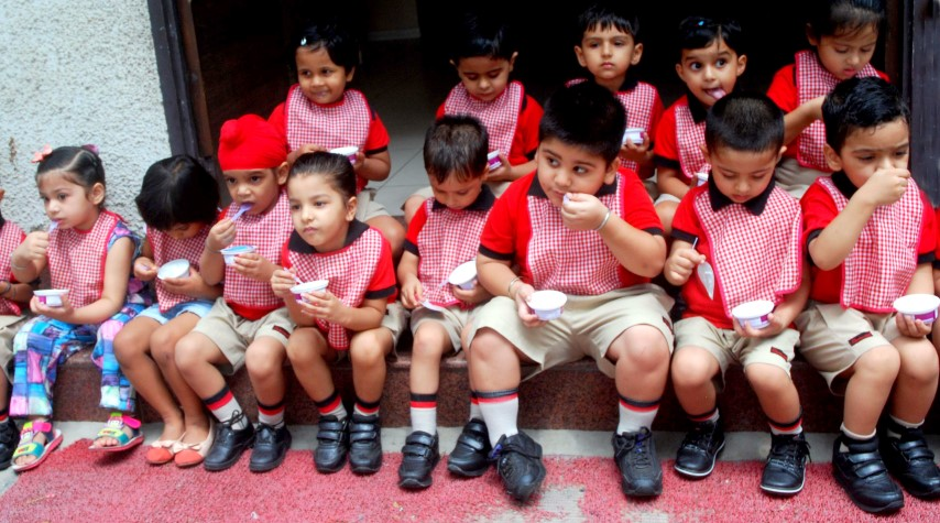Shemrock School Sector 69 celebrated Ice Cream day while enjoying different flavors of ice cream (Small)