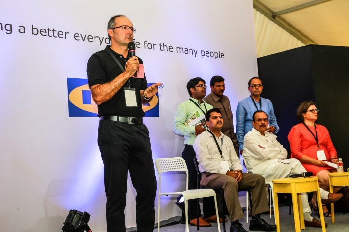 Juvencio Maetzu, CEO, IKEA India talking about company's  India plans in the presence of Hon. Deputy Chief Minister, Mr. Mohammad Mahmood Ali (Small)