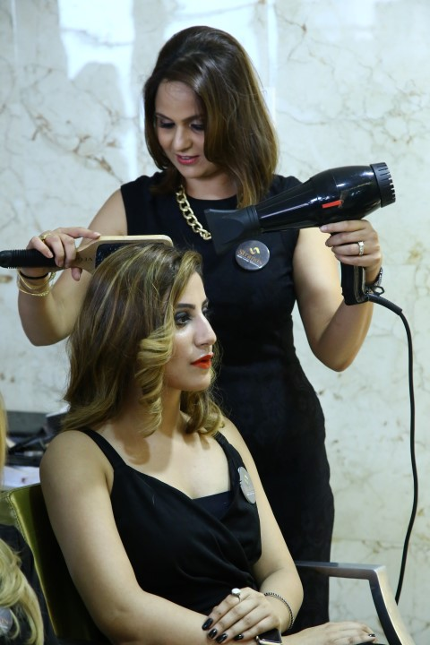 Ms. Raman Ghai, Certified Beauty Trainer & Vice President Operations, Strands Saloon Pvt Ltd during the Olaplex Hair Care Treatment in Chandigarh. (Small)