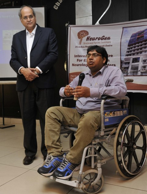 dr-alok-sharma-with-muscular-dystrophy-treated-patient-dinbandhu-roy-small