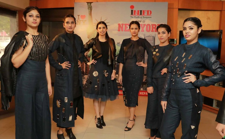 INIFD Designer Student Anupreet Sidhu's Lakme Fashion Week Collection being showcased at INIFD in Sector 8 here (3) (Small)