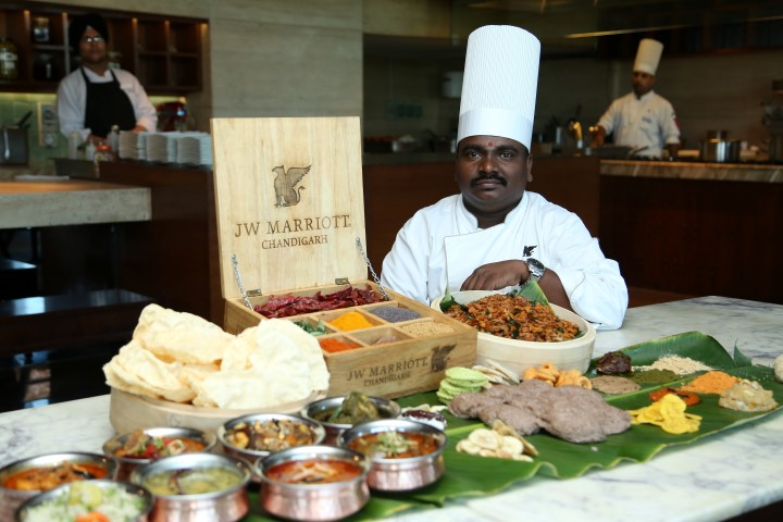 """Pic 1- In picture- Chef Somu Shekhar Gedi, Jr Sous Chef  ( """"Andhra Ruchulu"""", A Two-Week Andhra Food Festival At The Café@JW) (Small)"""