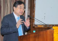 A special address given by Ambassador of Korea to India, Mr. Cho Hyun hosted by PU