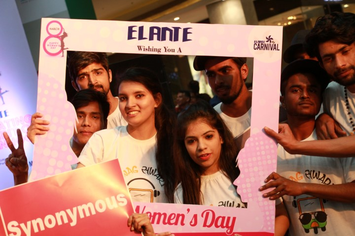 Elante organised series of engaging activities on Women's Day, offering free parking to women as special gesture, flash mob,dance performance etc   (5) (Small)