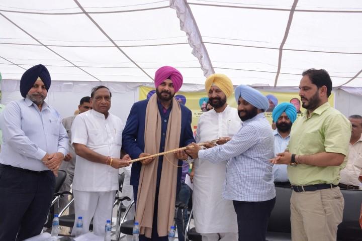 Navjot Singh Sidhu at Mohali