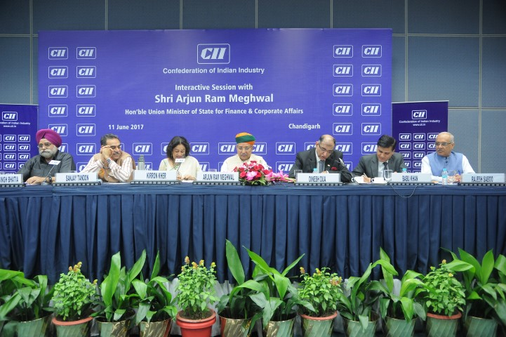 Arjun Ram Meghwal at CII