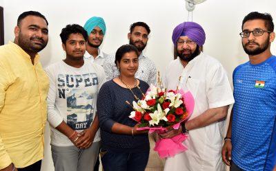 Punjabi University Archers meet Punjab CM to Thank Him for His Support
