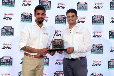 Ravindra Jadeja unveils Castrol Super Mechanic Trophy