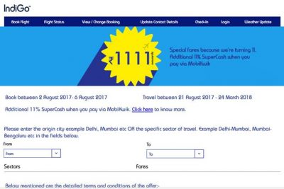 IndiGo offers tickets starting Rs 1111 to mark 11th anniversary; international destinations included in scheme