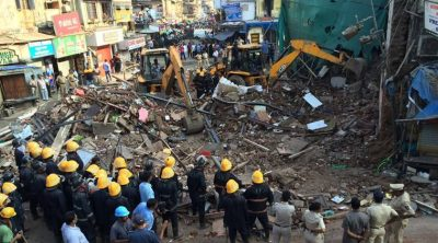 4-storeyed residential building collapsed in Mumbai, traps many
