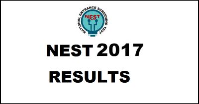NEST Junior result declared for Scholarship Test held on 30 July at www.nest.net.in