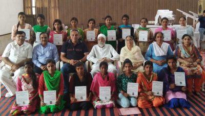 Distribution of Certificates at Sant Nirankari Tailoring & Embroidery Centre, Chandigarh