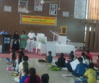 Painting Competition Organized by Sant Nirankari Mandal at Sant Nirankari Satsang Bhawan