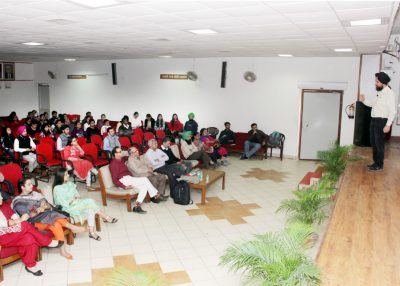 "Lecture on ""Nobel Award Winning Project : Detection of Gravitational Waves"" held at DAV College"