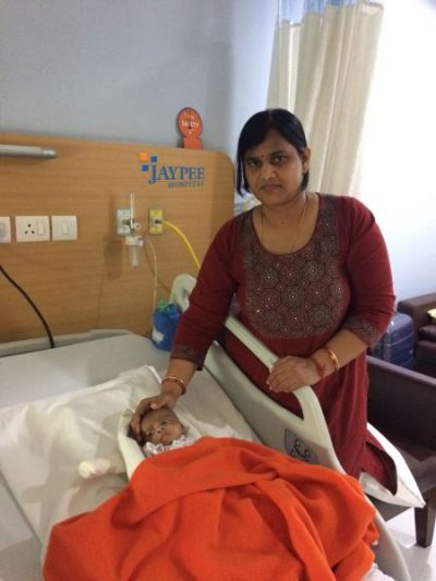 Jaypee Hospital treates nine months old infant from Bhubaneswar for a rare heart ailment