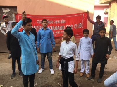 Nukkad Play and Rally organized to conserve energy at Maharishi Dayanand Public School