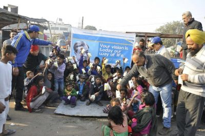 Verka celebrates Indian Milk Day by distributing milk pouches in slums