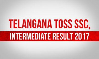 Telangana TOSS SSC, Intermediate Supplementary 2017 Result Declared at telanganaopenschool.org