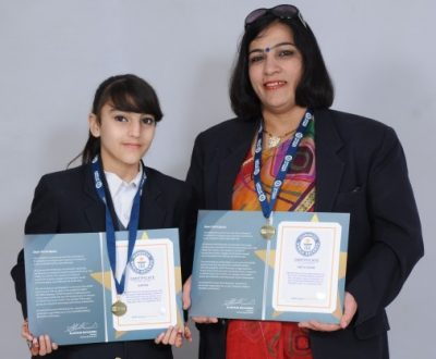 Mother & Daughter stepped in Guinness World Record
