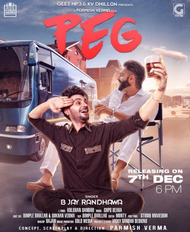 'Theth Gabru' B Jay Randhawa is all set for his new avatar in song 'Peg'